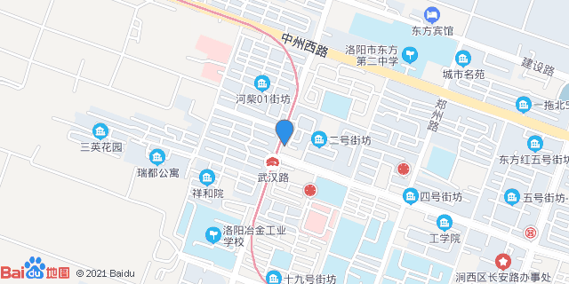 洛阳中信中心医院_地图位置