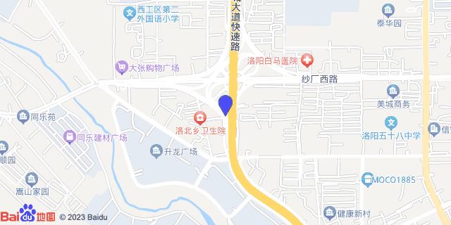 洛阳中西医结合医院_地图位置
