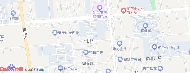 青岛莱西朴木地图