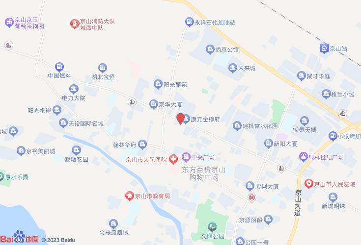 京山市城区地图