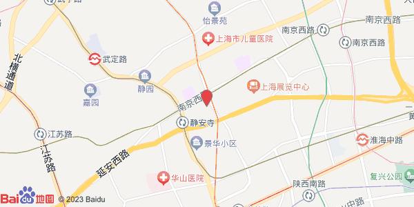上海手绘地图 静安寺