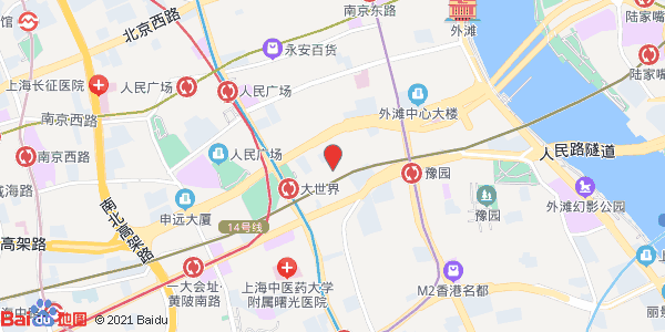 高清上海高架地图