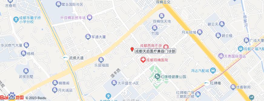 成都天后医疗美容门诊部地址地图导航