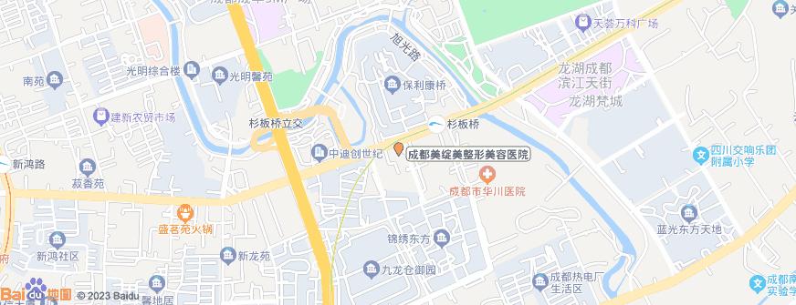 成都美绽美整形美容医院地址地图导航