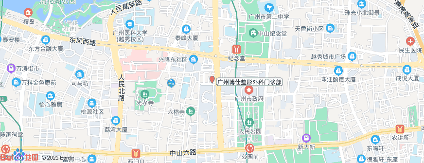 广州博仕整形外科门诊部地址地图导航