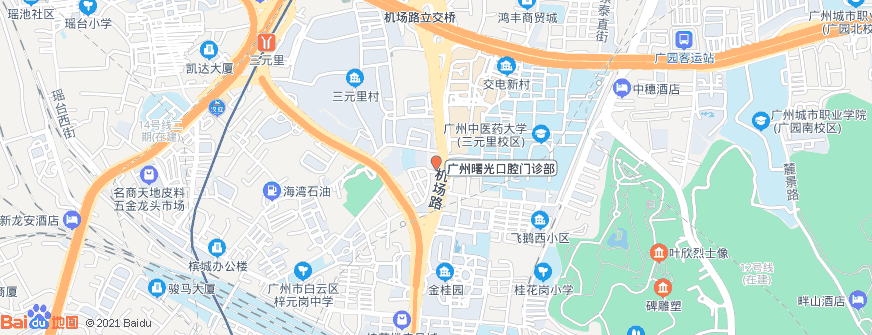 广州曙光口腔门诊部地址地图导航