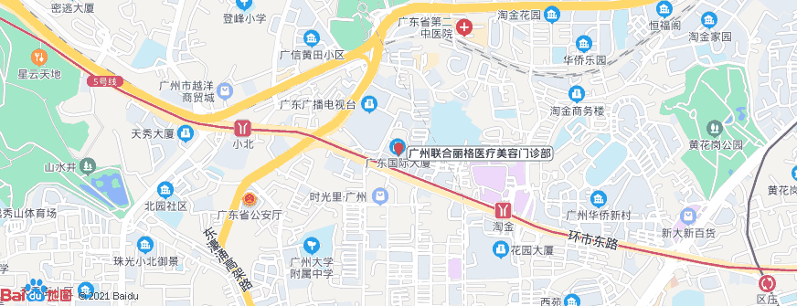 广州联合丽格医疗美容门诊部地址地图导航