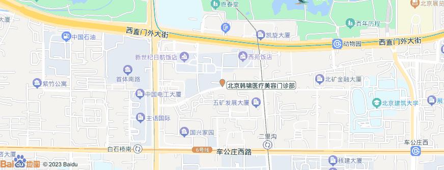 北京韩啸医疗美容门诊部地址地图导航