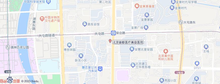 北京丽都医疗美容医院地址地图导航