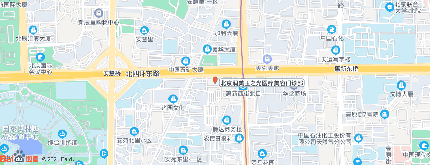 北京润美玉之光医疗美容门诊部地址地图导航