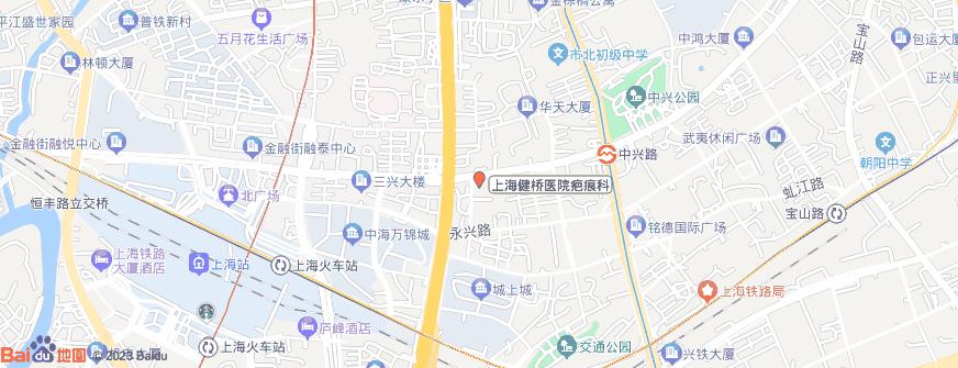 上海健桥医院疤痕科地址地图导航