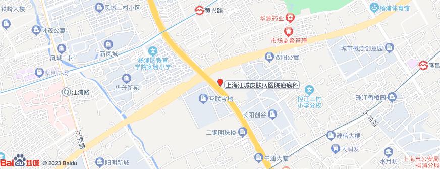 上海江城皮肤病医院疤痕科地址地图导航