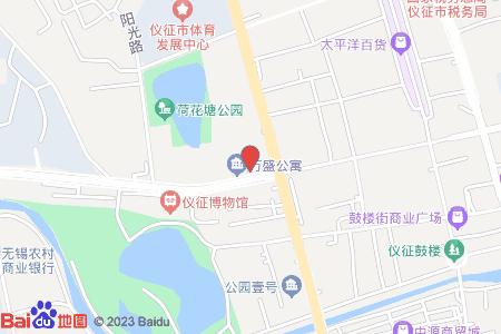 万盛公寓地图信息