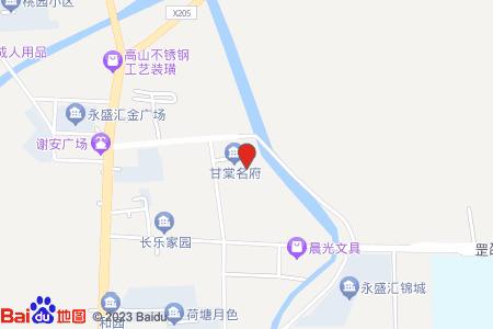 甘棠名府地圖信息