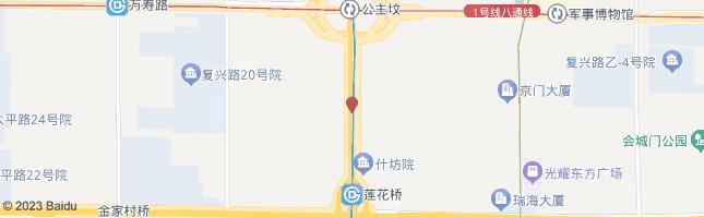北京公主坟南 公交站地图
