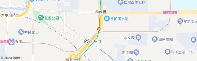北京十里河桥北 公交站地图