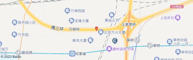 北京玉泉营桥西 公交站地图