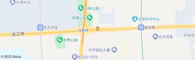 北京马甸桥东 公交站地图