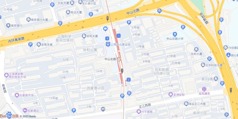 上海中山北路地铁站