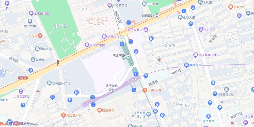 上海陕西南路地铁站
