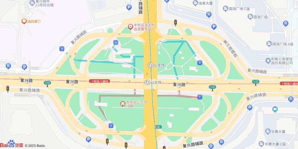 北京公主坟地铁站