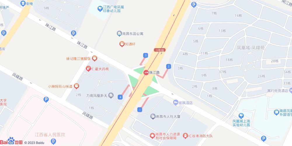 南昌珠江路地铁站