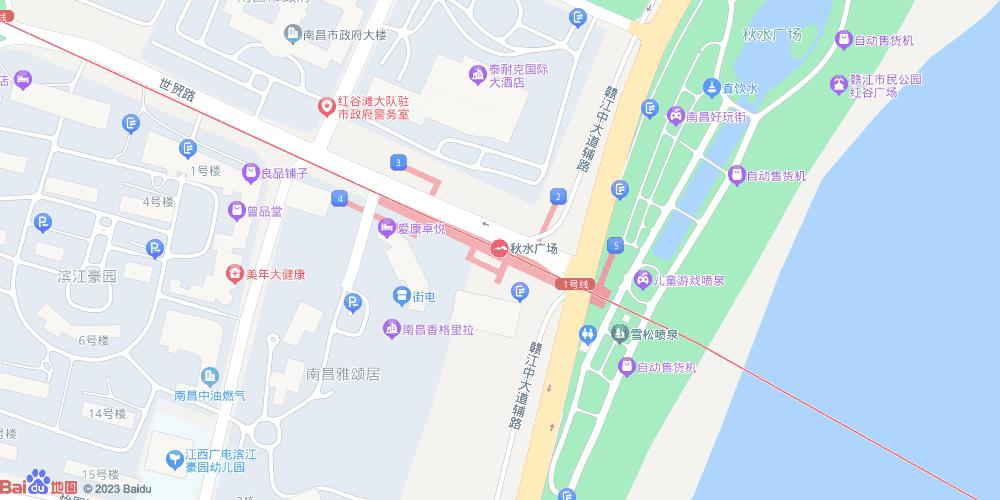 南昌秋水广场地铁站