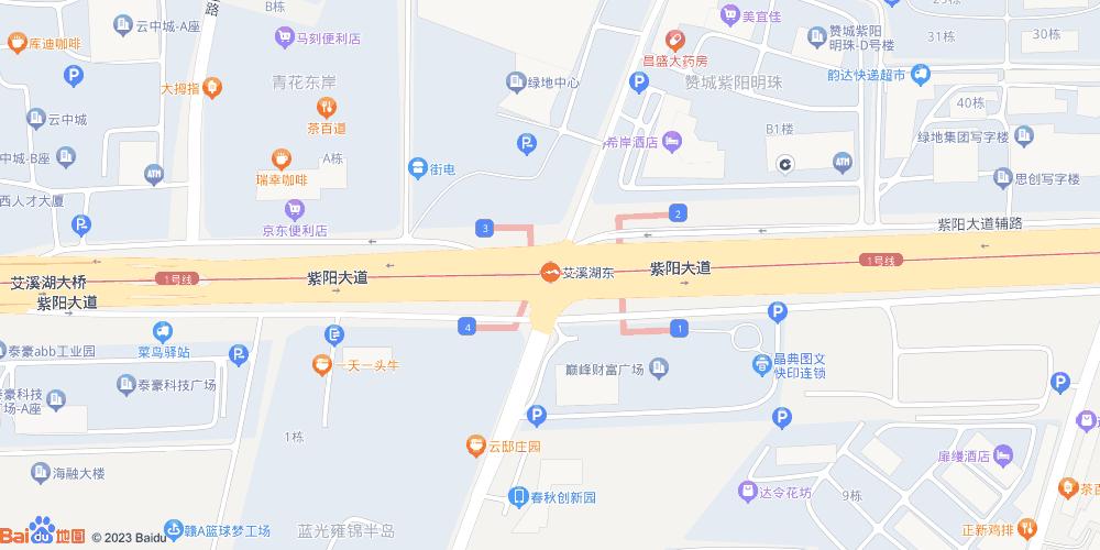南昌艾溪湖东地铁站