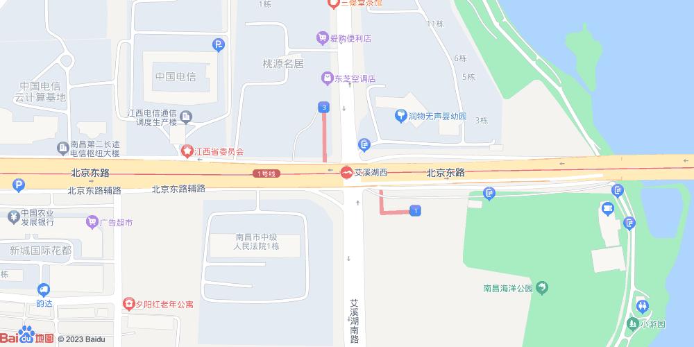 南昌艾溪湖西地铁站