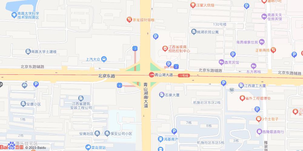 南昌青山湖大道地铁站