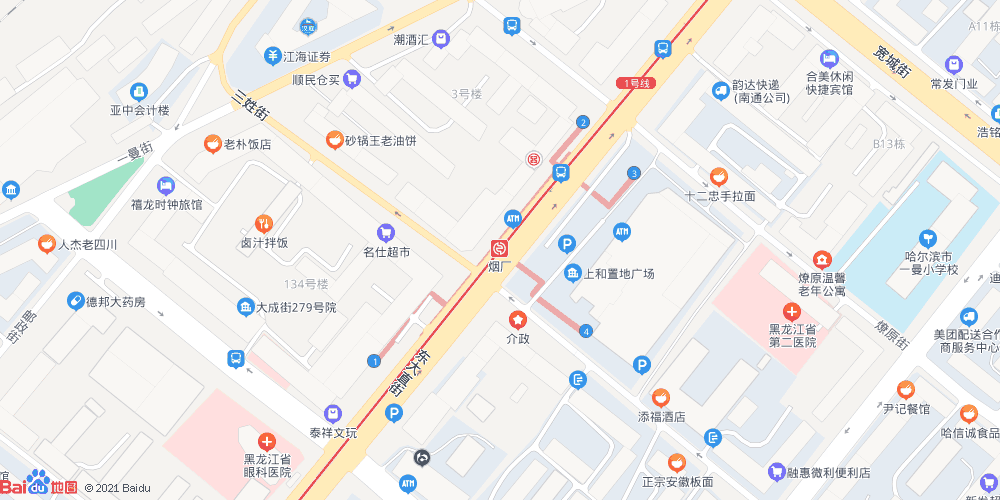 哈尔滨邮政储蓄银行_哈尔滨地铁烟厂站_烟厂地铁站出入口查询