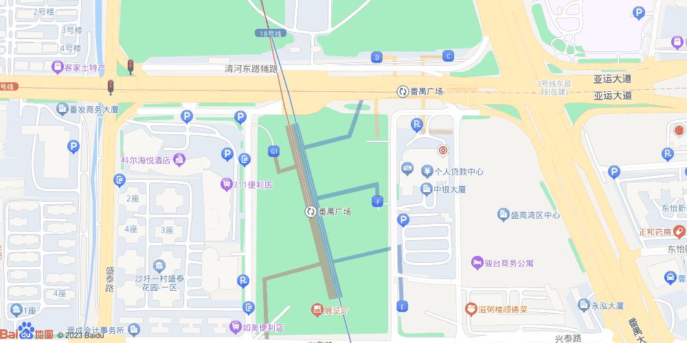 广州番禺广场地铁站
