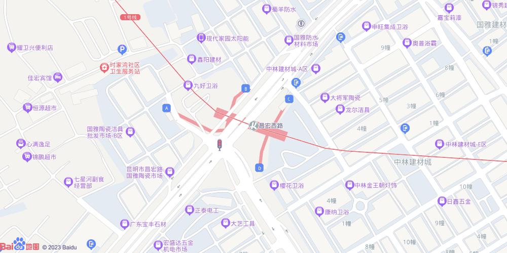 昆明昌宏西路地铁站