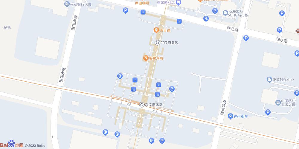 武汉商务区地铁站
