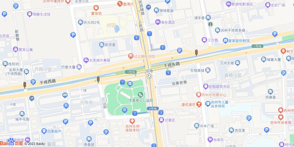 苏州乐桥地铁站