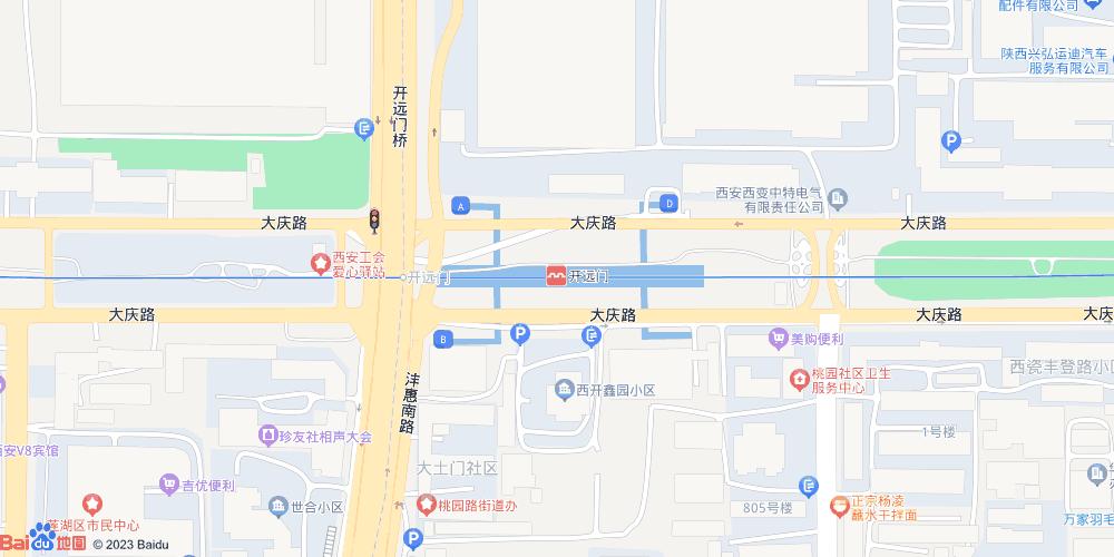 西安开远门地铁站