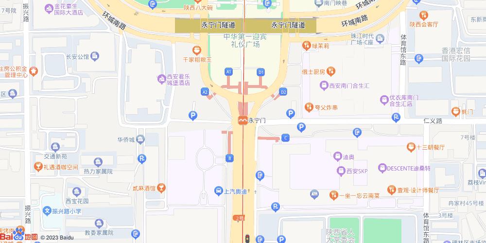 西安永宁门地铁站