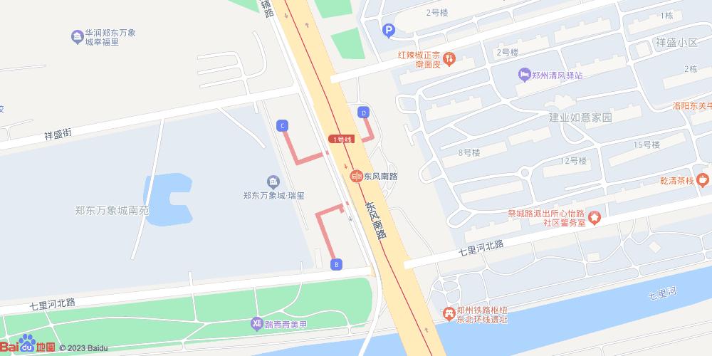 郑州东风南路地铁站