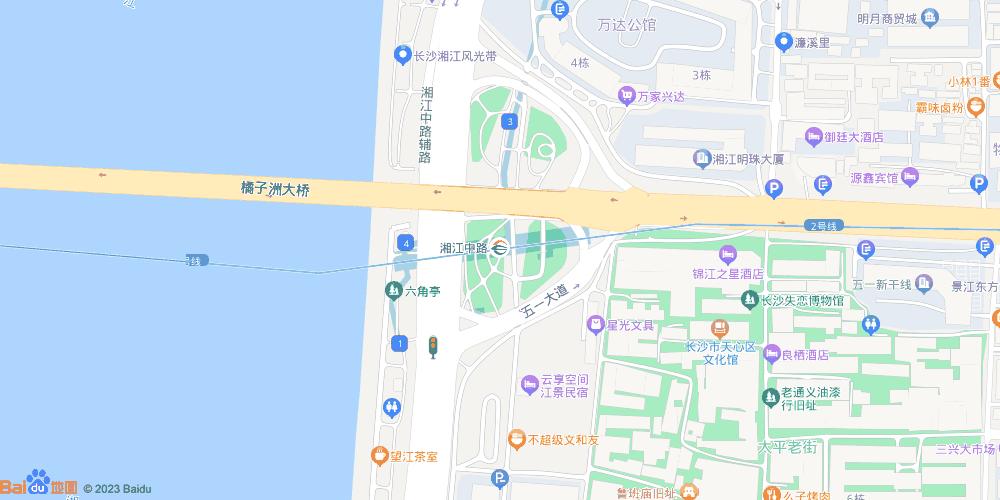 长沙湘江中路地铁站