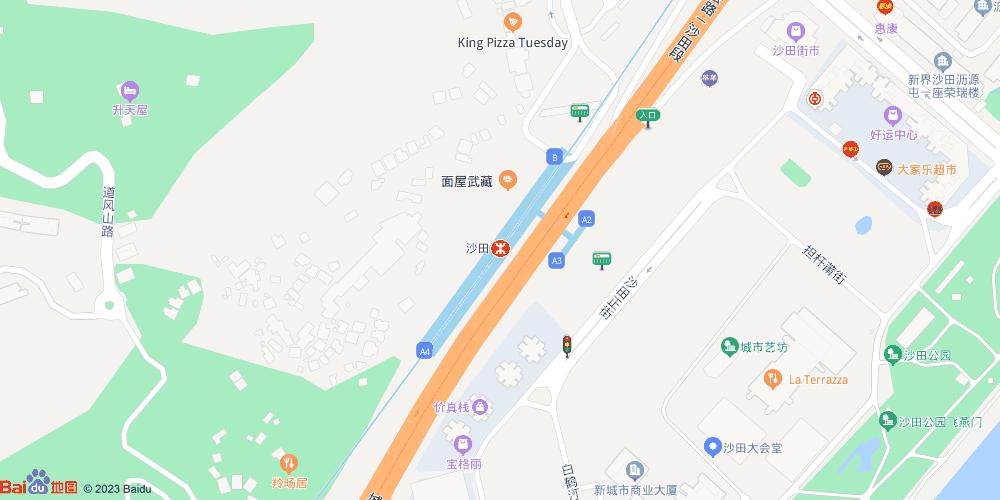 香港沙田地铁站