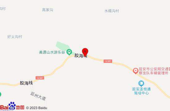 延安美源山水游乐谷地图