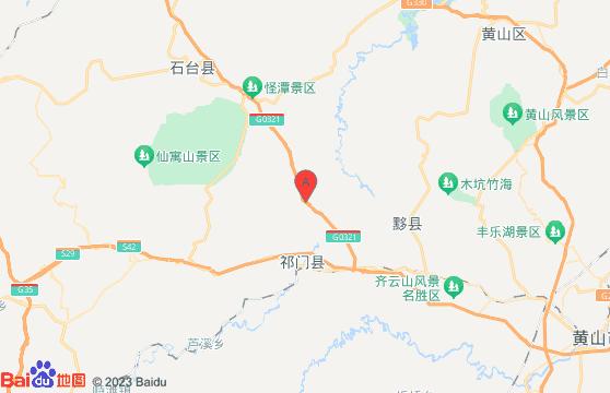 黄山旅游景点-牯牛降风景区交通地图