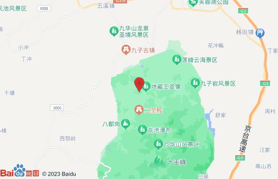 黃山旅游景點-九華山風景區交通地圖