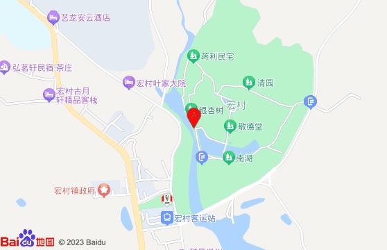 宏村景區地圖