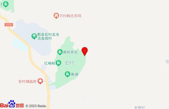 黃山宏村景區-黃山旅游團三日游地圖