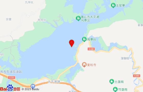 黄山旅游跟团景点-太平湖景区交通地图