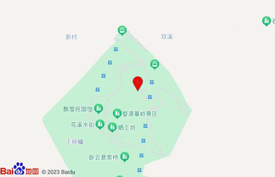 黃山旅游景點-婺源篁嶺交通指南地圖