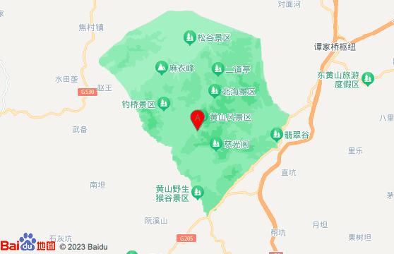 黄山二日游景点:黄山风景区地图