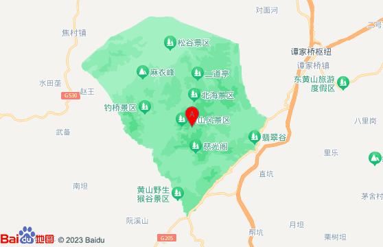 黃山風景區地圖