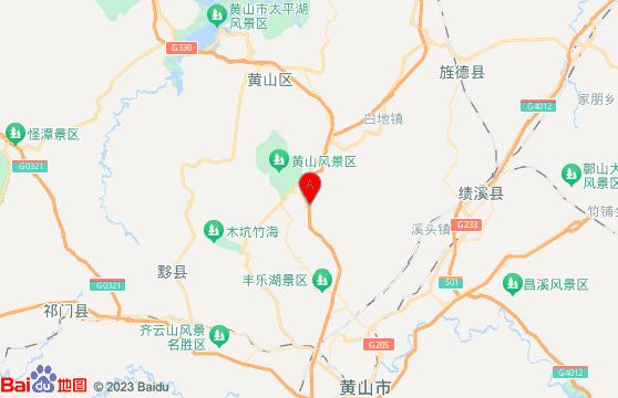 黃山風景區-黃山旅游團三日游地圖